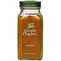 Simply Organic 姜黃粉末,小姜黃生姜粉,2.38盎司,67克