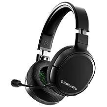 SteelSeries 賽睿 Arctis 1 無線游戲耳機 - USB-C 無線 - 可拆卸清晰麥克風 - 適用于 Xbox、PS4、Nintendo Switch、Android (Xbox One)