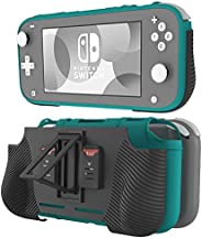 Linkidea 保护套兼容 Nintendo Switch Lite ,可插式硬质手柄保护套,带 2 个游戏卡插槽