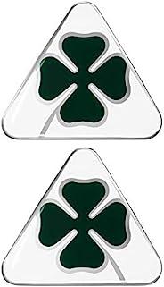 Alfa Romeo 阿尔法·罗密欧 21841 3D四叶草贴纸2片,DX + SX,绿色,白色,每套2个,10厘米,95毫米x 85毫米
