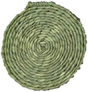 青木本店 七岛 天然草* 圆形 座 小 米色 21厘米