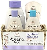 Aveeno 艾惟诺 Baby Mommy & Me 日常沐浴礼品套装,内含婴儿沐浴露和洗发露,婴儿保湿乳液和妈妈舒缓沐浴露,