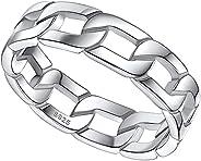 FaithHeart 4mm 凯尔特结女士婚戒纯银永恒链环礼品包装