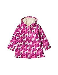 Hatley 女童羊羔绒内衬防水夹克雨衣