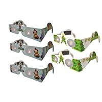 3D 圣誕眼鏡 - 假日* - 5 對眼鏡泰迪熊和樹 - 將圣誕燈變成神奇的圖像 - 5 對