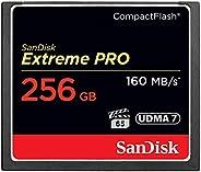 SanDisk 闪迪 Extreme Pro 256 GB 160 MB / s CompactFlash存储卡-SDCFXPS-256G-X46,黑色/金色/红色