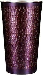 新光金属 平底杯 紫涂层处理 大 500毫升 纯铜紫涂层处理 锤目平底杯 S-503P