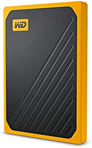 Western Digital 1 TB My Passport Go便携式固态硬盘-琥珀色装饰