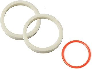 PZRT 自行车海绵环油密封泡沫 32 毫米自行车前叉配件适用于 MTB 山地公路自行车(2 个吸油海绵 + 1 个红色圆圈)