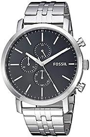 Fossil 男士 Luther 不锈钢石英手表