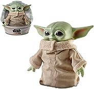 Star Wars 曼陀罗;The Child Baby 尤达 11 英寸毛绒可动公仔玩具,带配件(3 岁以上)