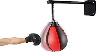 Carejoy 拳击拳击袋反射速度袋带加固弹簧壁安装坚固耐用拳击球,适合男士女士儿童家庭办公室健身房