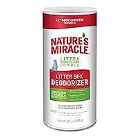 Nature's Miracle 猫砂盒*剂,20 盎司,砂体*粉,猫气味控制*