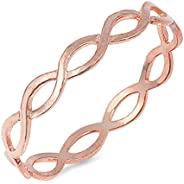 選擇您的顏色純銀永恒無限戒指