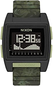 NIXON Base Tide Pro A1307 - *迷彩 - 100 米防水男式數字沖浪手表(42 毫米手表表面,24 毫米聚氨酯/橡膠/硅膠表帶) - 采用 #Tide 再生海洋塑料制成