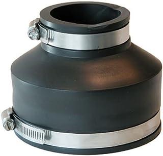 2 批 - 中国制造,零件编号 P1056-415 4 英寸 x 1-1/2 英寸柔性耦合器,带夹,制造商 Fernco,使用方便