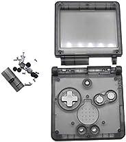 Meijunter 替换透明透明全外壳外壳外壳维修配件套件适用于任天堂Gameboy Advance SP GBA SP 控制台