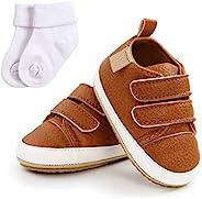 ENERCAKE 男婴女童鞋幼儿高帮及踝帆布婴儿运动鞋软底新生儿学步鞋婴儿鞋