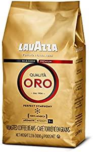 LAVAZZA Qualità Oro 全豆咖啡混合物 中度烘焙,2.2磅(1.0公斤)/袋*1袋