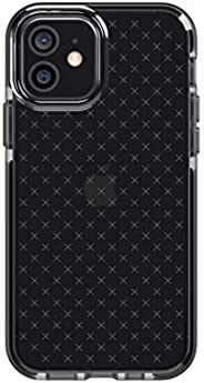 tech21 Evo Check 适用于 Apple iPhone 12 和 12 Pro 5G - **手机壳,带 12 英尺(约 3.7 米)防摔,黑色