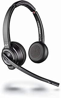 Plantronics Savi W8220 双声道的 头带 黑色 耳机 ( 电话/办公室中心,双耳,头带,黑色,无线,180 米