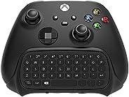 适用于 Xbox 系列 X/S / Xbox One/S 控制器游戏手柄的无线控制器键盘,2.4Ghz 迷你 QWERTY 控制器键盘游戏聊天板,带音频/耳机插孔,适用于 Xbox 系列 X/S 控制器-黑色