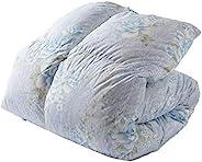 Iris Plaza 羽绒被 白鸭绒/白鹅绒 日本制造 共6种颜色 花柄ブルー ダブルロング 14