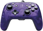 PDP Nintendo Switch Faceoff Deluxe+ 音频有线控制器 紫色迷彩