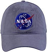 Concept One 男士 NASA 水洗斜纹棒球帽,可调节灰色,均码