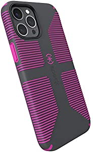 Speck Products CandyShell Pro Grip iPhone 12 Pro Max 手机壳,石板灰/这是紫罗兰色