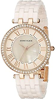 ANNE KLEIN 女士 AK/2130RGLP 施華洛世奇水晶點綴手鐲表,Light Pink/Rose Gold,均碼