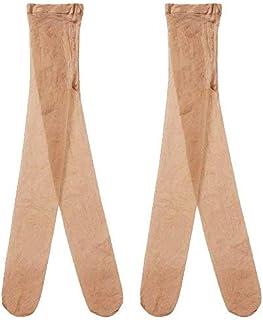 Country Kids 女童丝滑透视腰连裤袜,2 件装