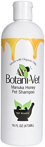 BotaniVet 认证的*麦卢卡蜂蜜宠物洗发水 473.18 克 - * 天然成分 - **用于*和瘙痒