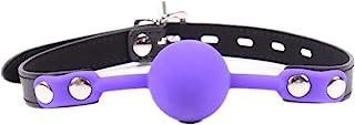 紫色服装道具配件开放式透气口球