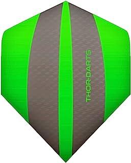 THOR-DARTS *线:15 Green F3 Darts Flights HD-240 F3 */灰色飞镖飞行超长耐久厚度> 100 微米(15 件(5 套),*) ...