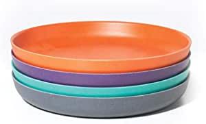 Biobu [by Ekobo] 儿童餐盘套装 礼盒装 小号 青绿/橙/紫/灰