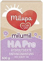 Milupa milumil HA婴儿奶粉 Pre段(适用于初生婴儿) 适用于易敏体质婴儿,3罐装(3 x 600g)