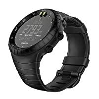 Fintie Suunto Core 替换表带,橡胶配件表带腕带运动表带 带金属表扣兼容 Suunto Core 智能手表4351674068 黑色