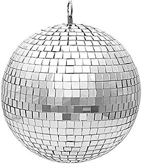 20.32 厘米镜子迪斯科球非常适合舞台照明效果或作为房间装饰。(银色)