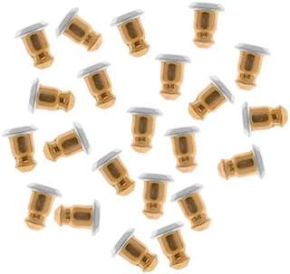Beadaholique 子弹手包耳环背,低过敏性 5.7x5 毫米,50 件,金色