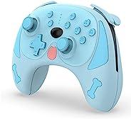 Switch/Switch Lite 控制台无线控制器,PC 游戏手柄,Puppy 无线蓝牙游戏手柄控制器,双电机六轴无线哈巴吉游戏手柄,带唤醒功能
