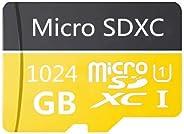 高速 256GB 512GB 1024GB Micro SD 卡专为安卓智能手机设计,平板电脑 Class 10 SDXC 内存卡带适配器 (1024GB)