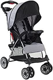 Kolcraft Cloud Plus 轻便易折叠紧凑型旅行婴儿推车,板岩灰色