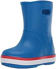 Crocs 中性 Bistro 工作洞鞋 黑色 Crocband Rain Boot Kids&