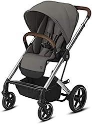 Cybex Balios S Lux 婴儿车,正面朝向或父母方向,单手折叠,多位置斜倚,可调节人造革车把,适合 6 个月以上的人群,Soho灰