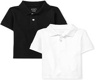 The Children's Place 婴幼儿男孩制服珠地布 Polo 衫 2 件装