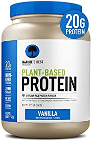 Nature's Best Plant Based Vegan Protein Powder by Isopure - Organic Keto Friendly, Low Carb, Gluten Free,