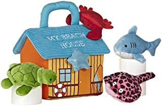 aurora world baby talk my beach house carrier 8 plush by aurora world