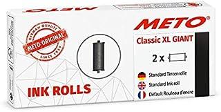 METO 彩色卷 适用于 METO Classic XL 超大专业手写板 30007716 ( 适用于 29 × 28 毫米标签) 2 件,黑色