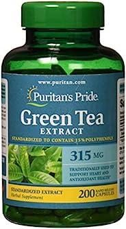 Puritan's Pride Green Tea Standardized Extract 315 mg-200 Caps
